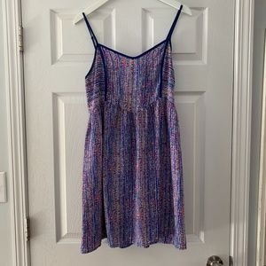 Andree Blue Multi Colored Dress